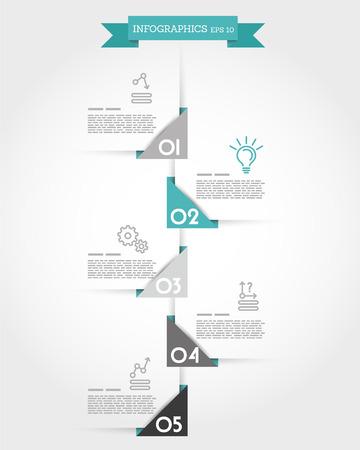 prospectus: turquoise origami triangular timeline. infographic concept.