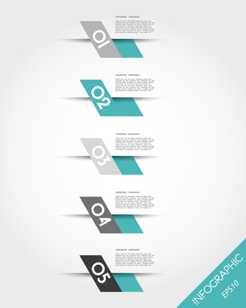 turquoise fast oblique infographic stickers. infographic concept. Vector