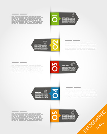 colorful arrows with numbers. infographic concept. Vector