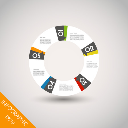 colorful infographic ring with five options. infographic concept. Vector
