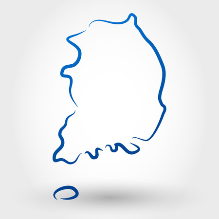 kaart van Zuid-Korea. kaart-concept Stock Illustratie