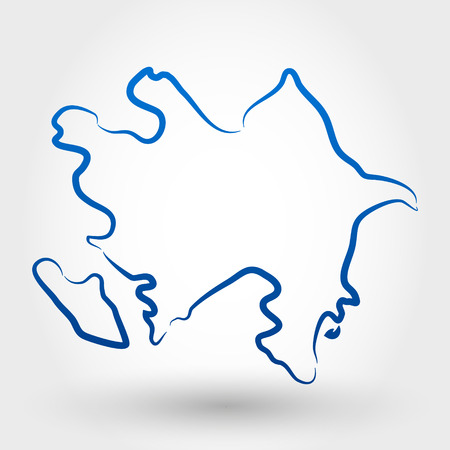 azerbaijan: map of azerbaijan. map concept Illustration