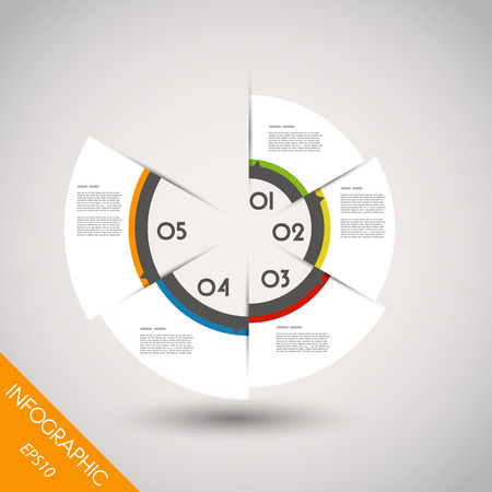 colorful infographic ring with elements. infographic concept. Vector