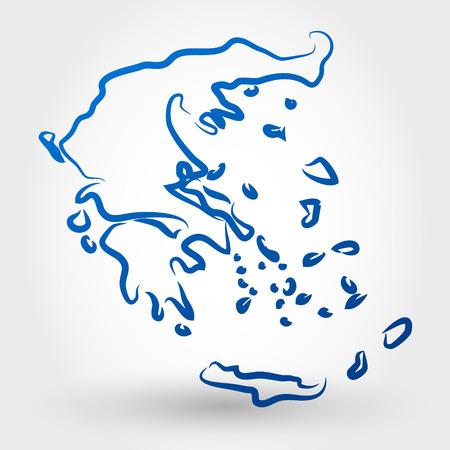 map of greece. map concept Stock Illustratie