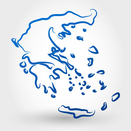 greece: map of greece. map concept Illustration