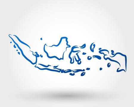 map of indonesia. map concept Illustration