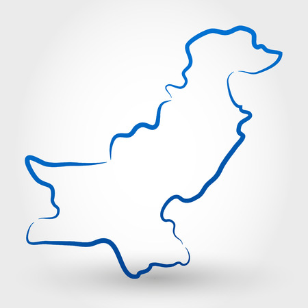 islamabad: map of pakistan. map concept