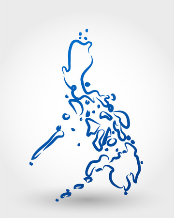 delineation: map of philippines. map concept