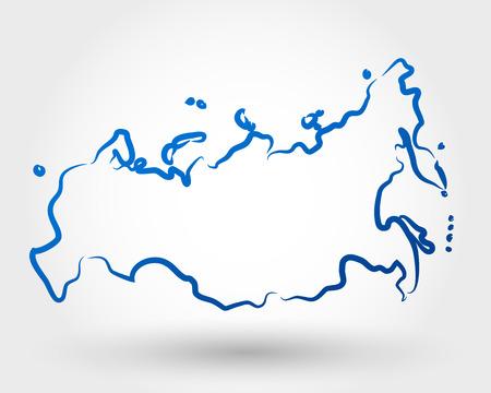 ロシアの地図。マップの概念