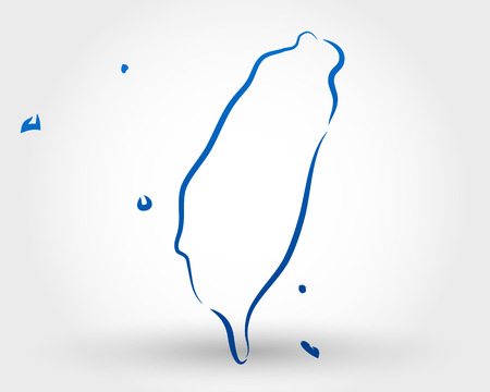 taiwan: map of taiwan. map concept
