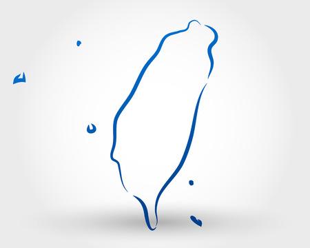 mapa: mapa de taiwán. mapa conceptual