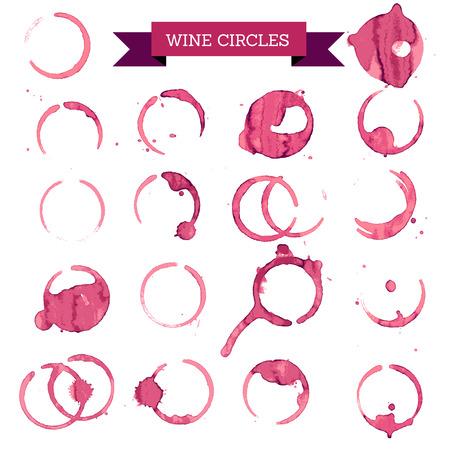 círculos de vinho tinto, vinho conceito