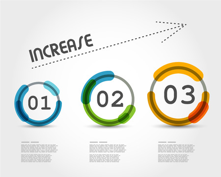 website button: colorful increase infographic. infographic concept. Illustration