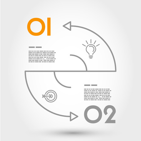 double arc infographic concept. infographic concept. Vector