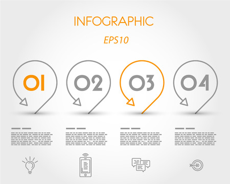 infographic with pointers. infographic concept. Vector