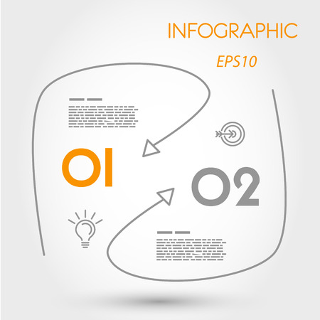 infogaphics: rounded linear infogaphics with curves. infographic concept.