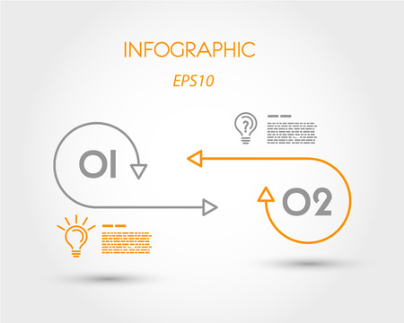 two minds: lienar two infographics options. infographic concept.