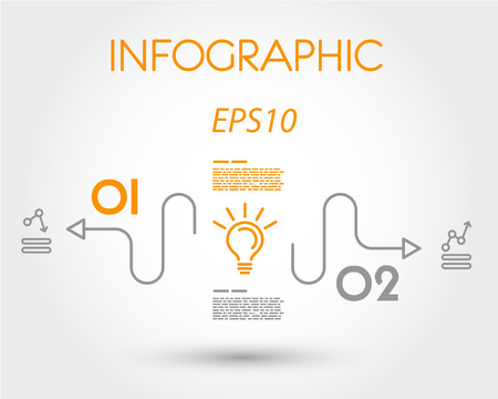 website buttons: linear simple infographics with bulb. infographic concept.