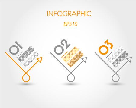 prospectus: linear round oblique markers. infographic concept.
