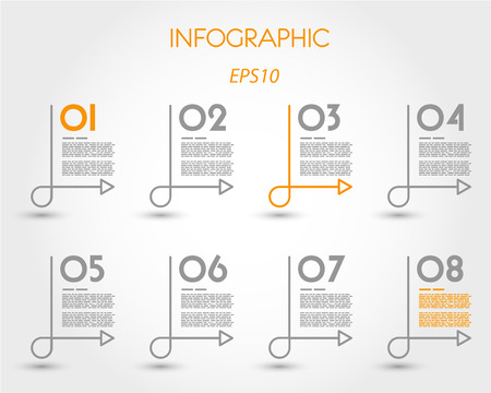 linear infographics with simple curve. infographic concept.