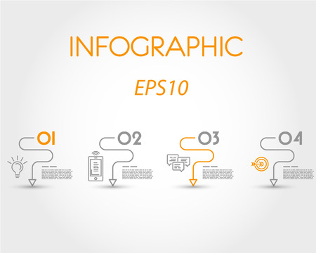 prospectus: linear simple infographic with curves. infographic concept.