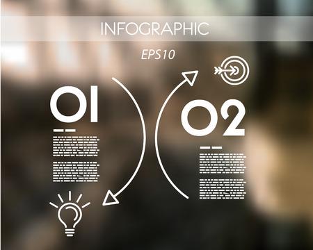 arc: white arc line infographic. infographic concept.