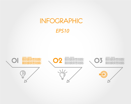 pointers: linear infographic triangular pointers. infographic concept.