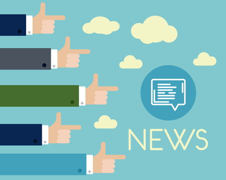 publicist: news with long hands, news concept