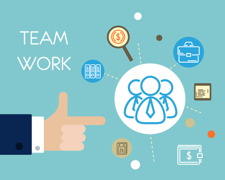 business work: team work with hands. business concept.