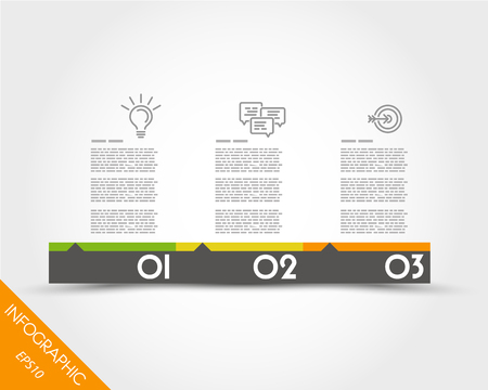 rectangles: colorful timeline from rectangles. infographic concept. Illustration