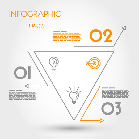 reversed: linear infographic reversed triangle. infographic concept. Illustration