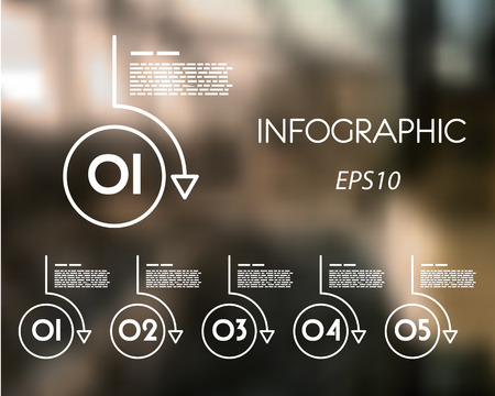 white linear infographic set of rings. infographic concept.