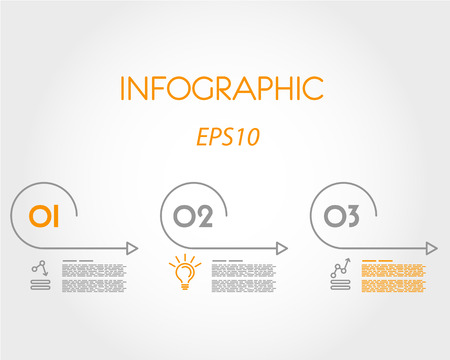 linear infographic set of arcs. infographic concept. Illustration