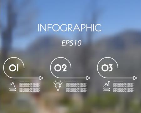 arcs: white linear infographic set of arcs. infographic concept. Illustration