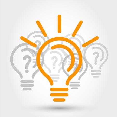 illustrazione idea con le lampadine, il concetto nbulb Vettoriali