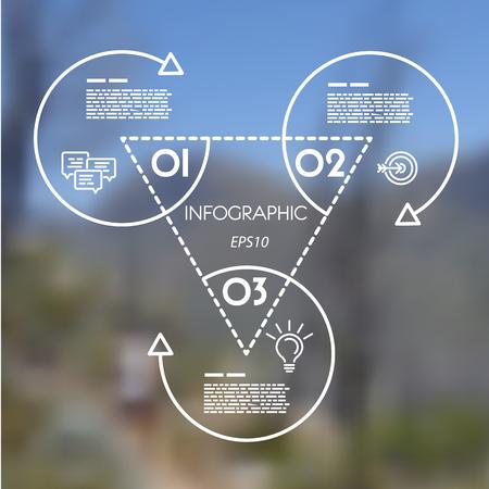 blanco plantilla de infografía lineal de los anillos. concepto de infografía.