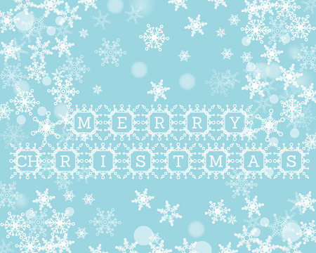 christmas concept: blue christmas background with snowflakes. christmas concept Illustration
