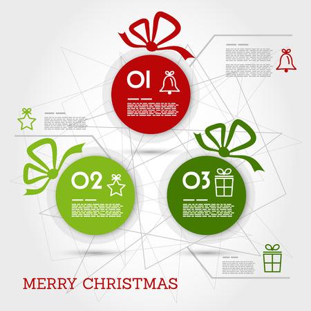 christmas concept: christmas infographic card with balls. christmas concept Illustration