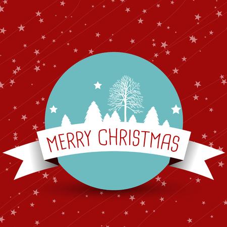 christmas concept: white christmas ribbon with blue ball. christmas concept