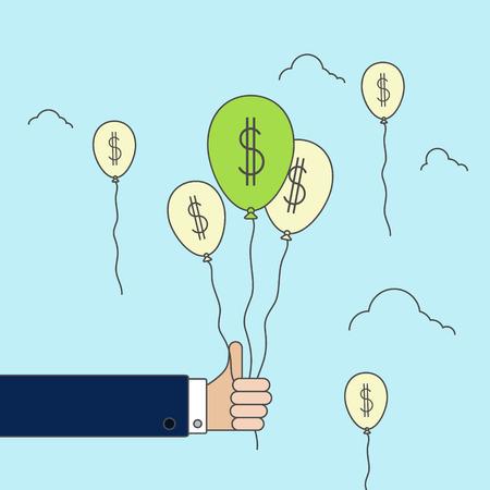 money ballons, business linear concept