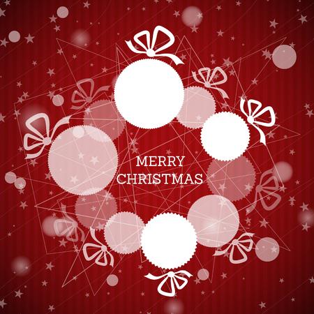 christmas concept: white christmas wreath. christmas concept Illustration