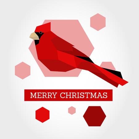 christmas concept: red christmas bird. christmas concept Illustration