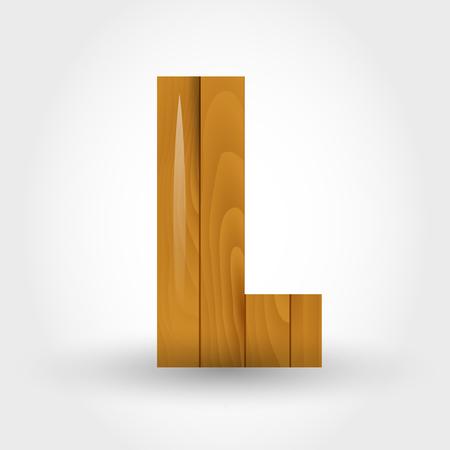l wooden wood letter l concept of wood alphabet