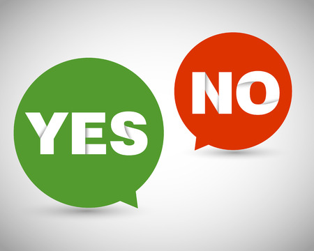 origami yes no, speech bubble concept