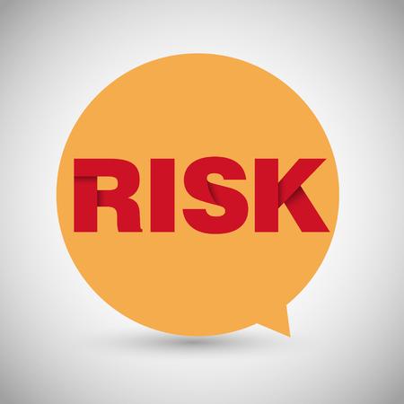 Risk Speech Bubble Origami Concept Royalty Free Cliparts Vectors