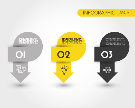 blank magazine: infographic arrows, yellow concept