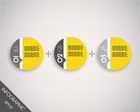blank magazine: infographic stickers, round data template Illustration