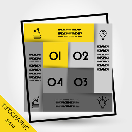 blank magazine: infographic template. infographic square. infographic elements. infographic steps.