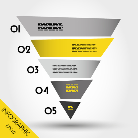 blank magazine: infographic pyramid, yellow template Illustration