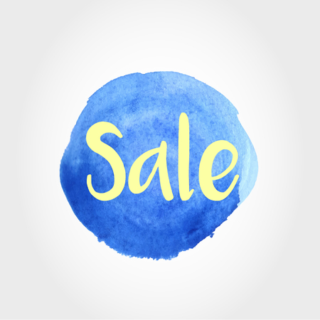 blue watercolor ring, sale concept Illustration